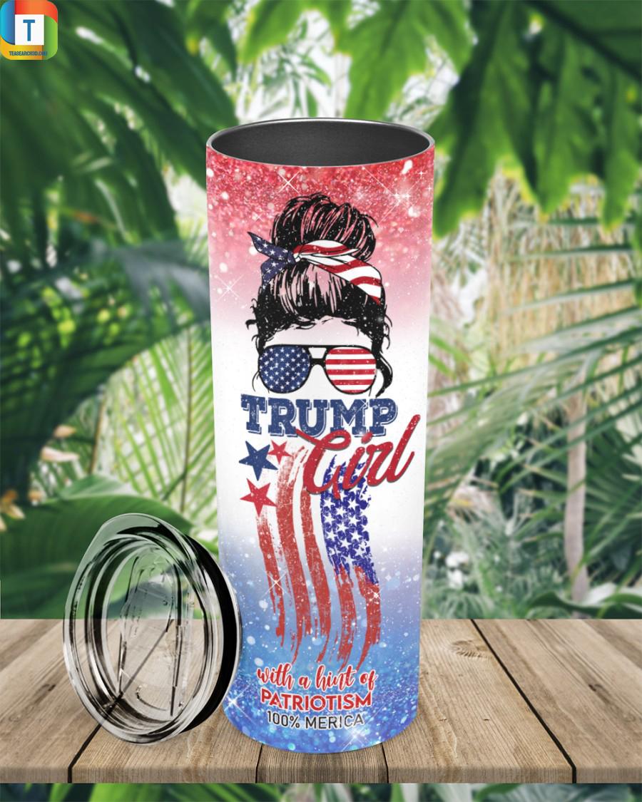 Trump girl with a hint of patriotism 100% merica tumbler 2