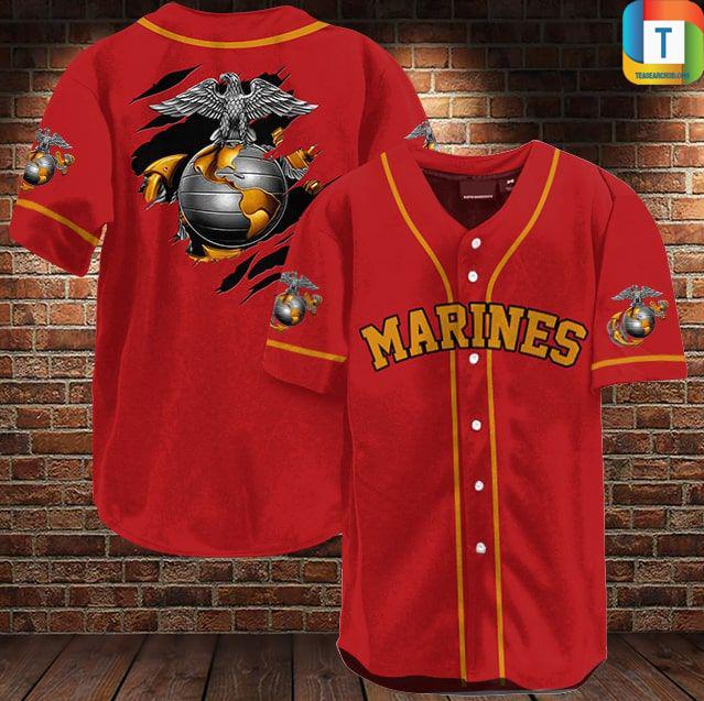 US marine baseball shirt
