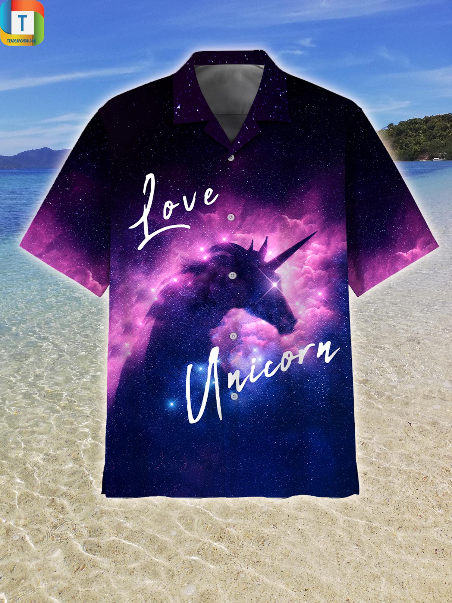 Unicorn Galaxy Hawaiian Shirt Beach Short