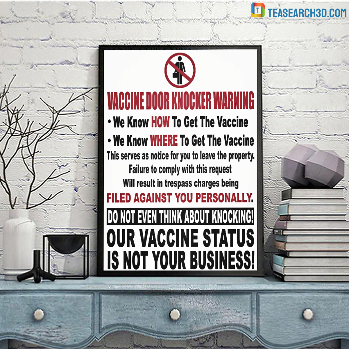 Vaccine door knocker warning canvas 2