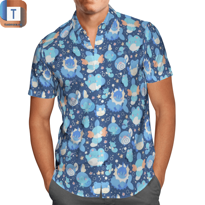 Water type pokémon hawaiian shirt 1