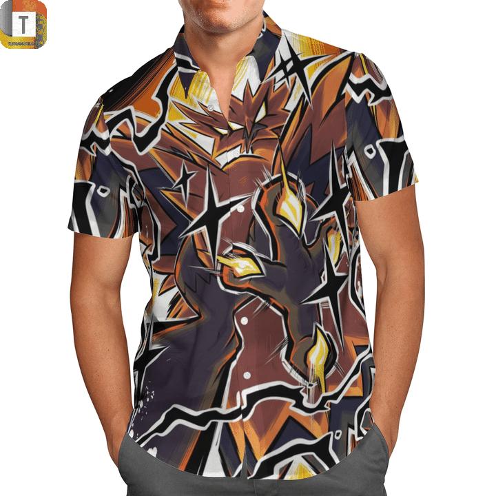 Zapdos pokemon hawaiian shirt 1