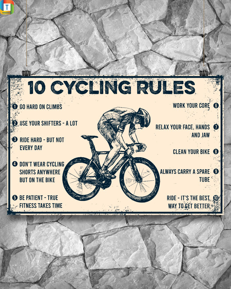 10 Cycling Rules Horizontal Poster 3
