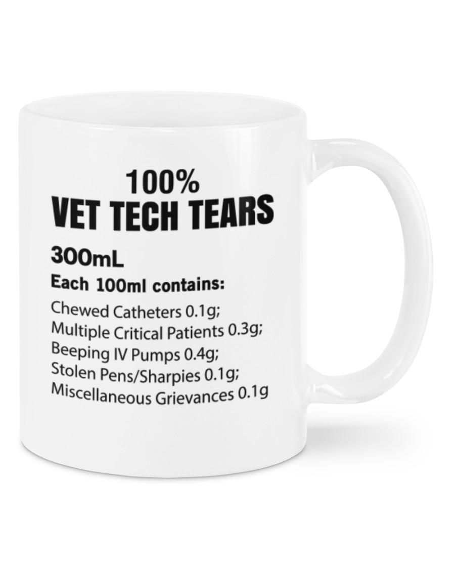 100% vet tech tears 300ml mug 2