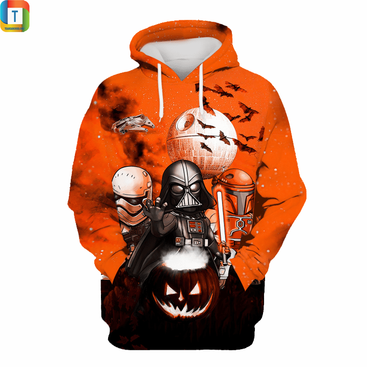 Star wars darth vader boba fett stormtrooper halloween night 3d hoodie