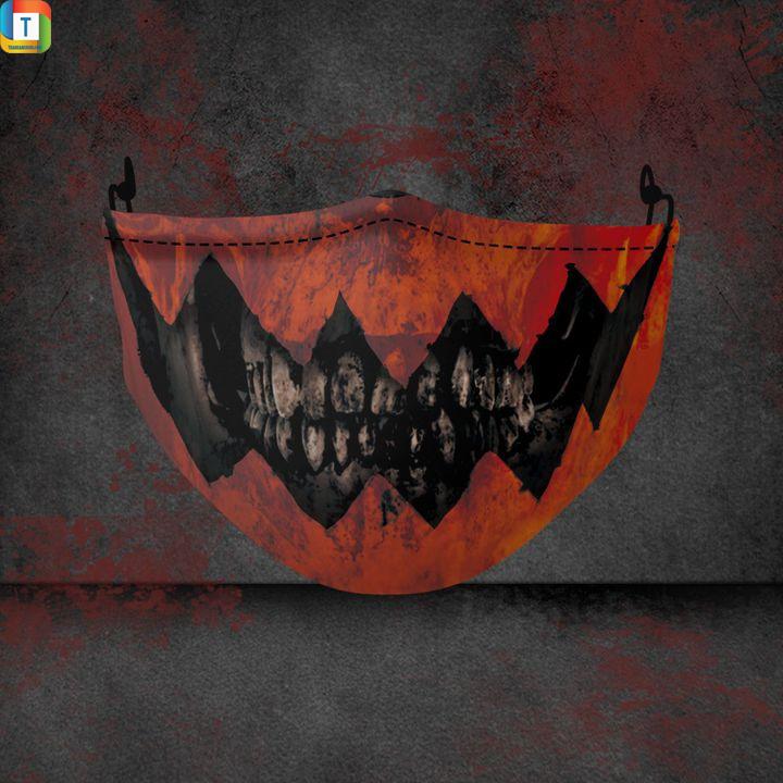 Pumpkin skull halloween 3d face mask face cover