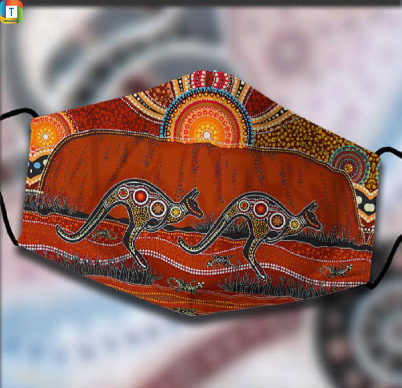 Aboriginal Kangaroo Australia 3D Face Mask