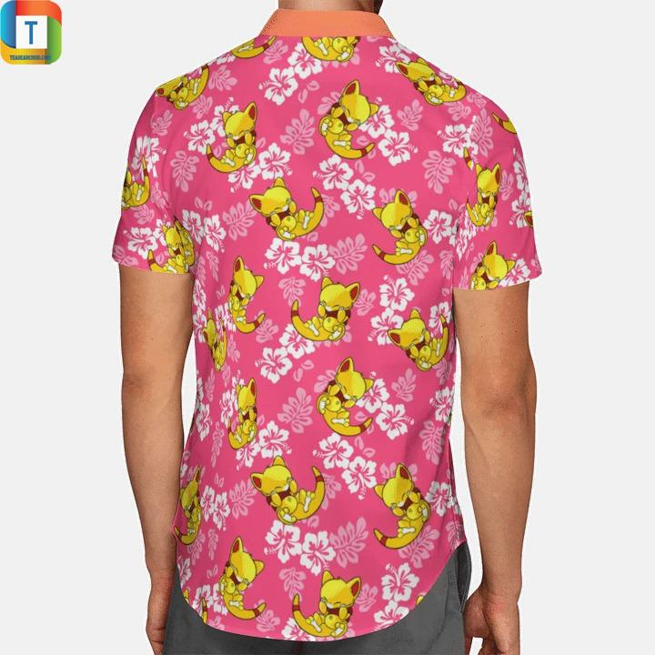 Abra Pokemon Summer Hawaiian Shirt 2