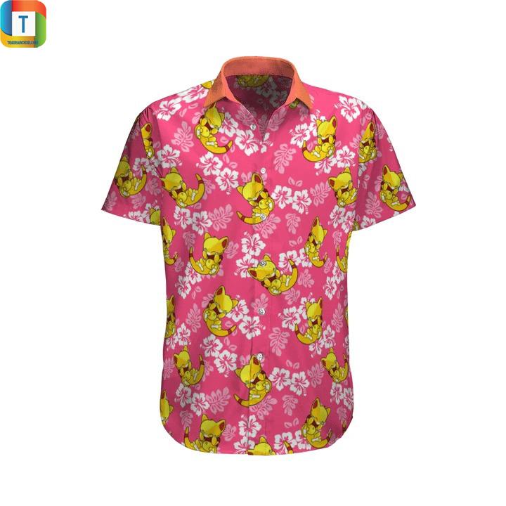 Abra Pokemon Summer Hawaiian Shirt