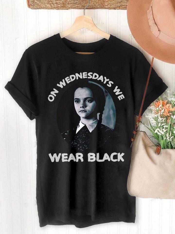 Addams Family On Wednesdays We Wear Black Shirt