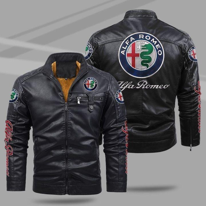 Alfa Romeo Fleece Leather Jacket