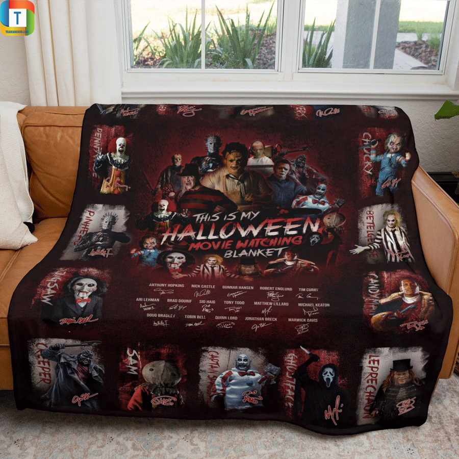 All classic horror movies characters this is my halloween watching movie blanket 2