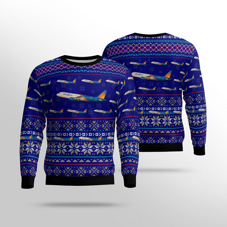 Allegiant air airbus A320 all over print sweater