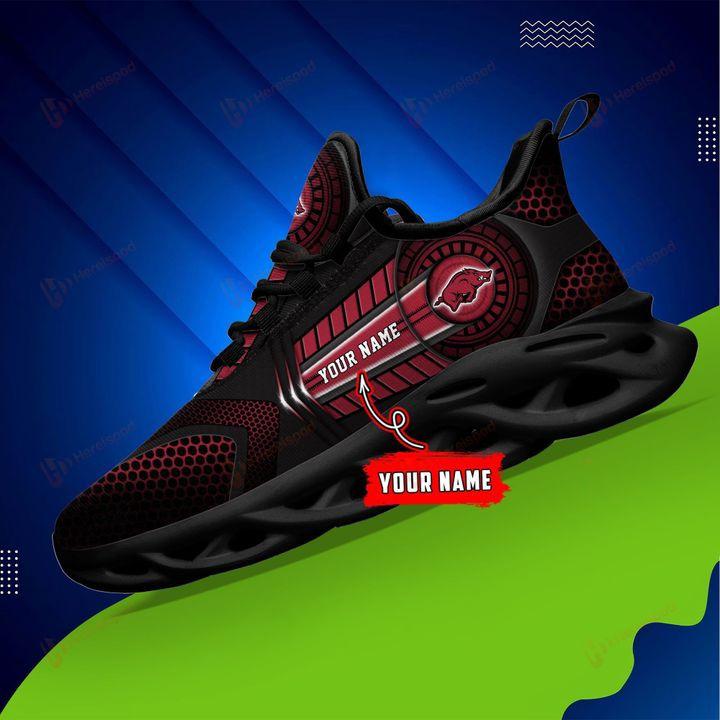 Arkansas Razorbacks NCAA Custom Name Max Soul Shoes