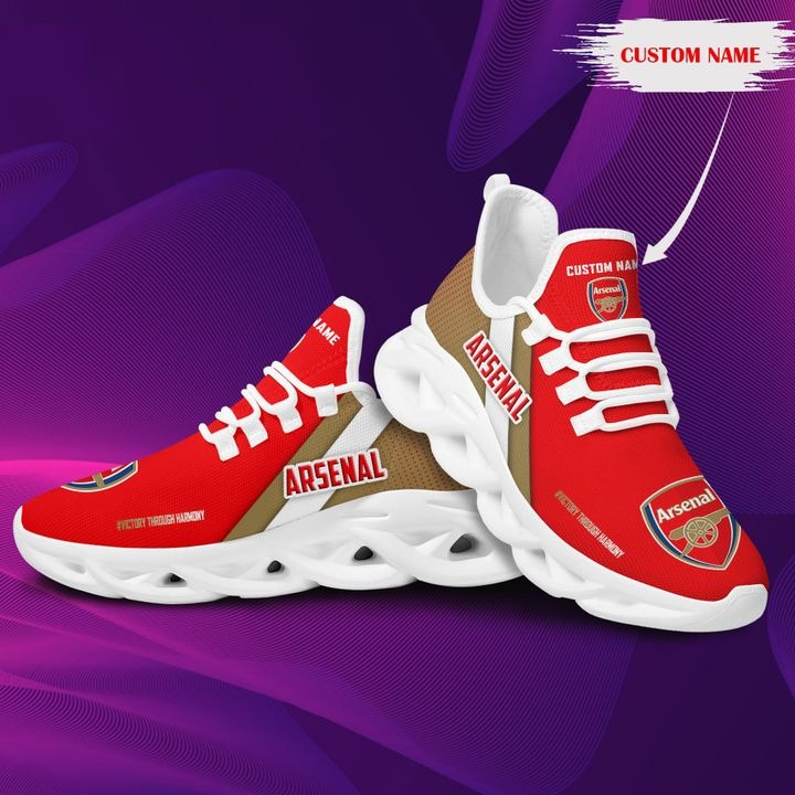 Arsenal Custom Name Clunky Running Shoes