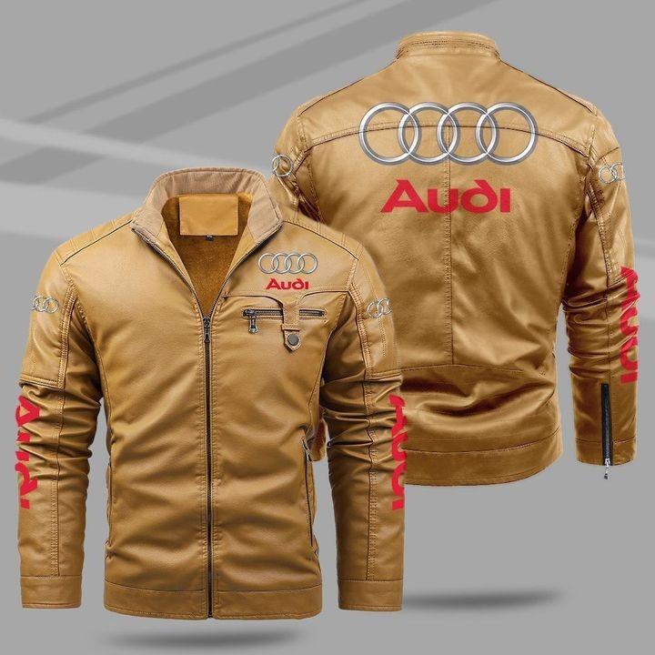 Audi Fleece Leather Jacket