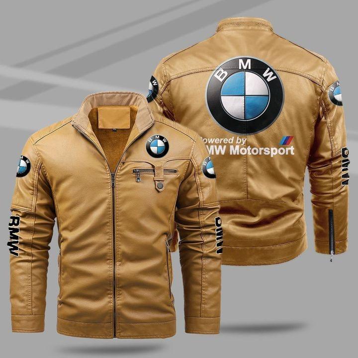 BMW Fleece Leather Jacket