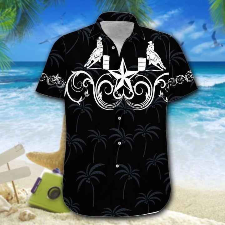 Barrel Racing Black Star Western Hawaiian Shirt For Family