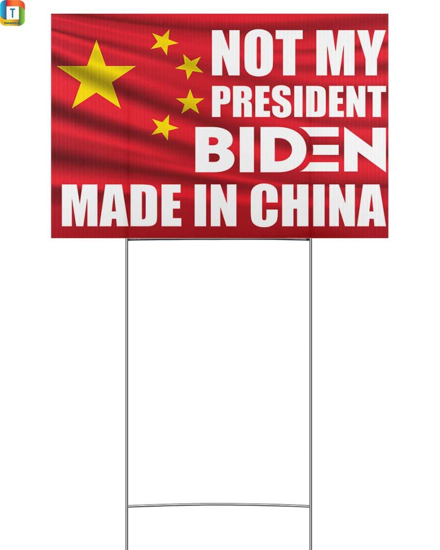 Biden made in China Yard Sign