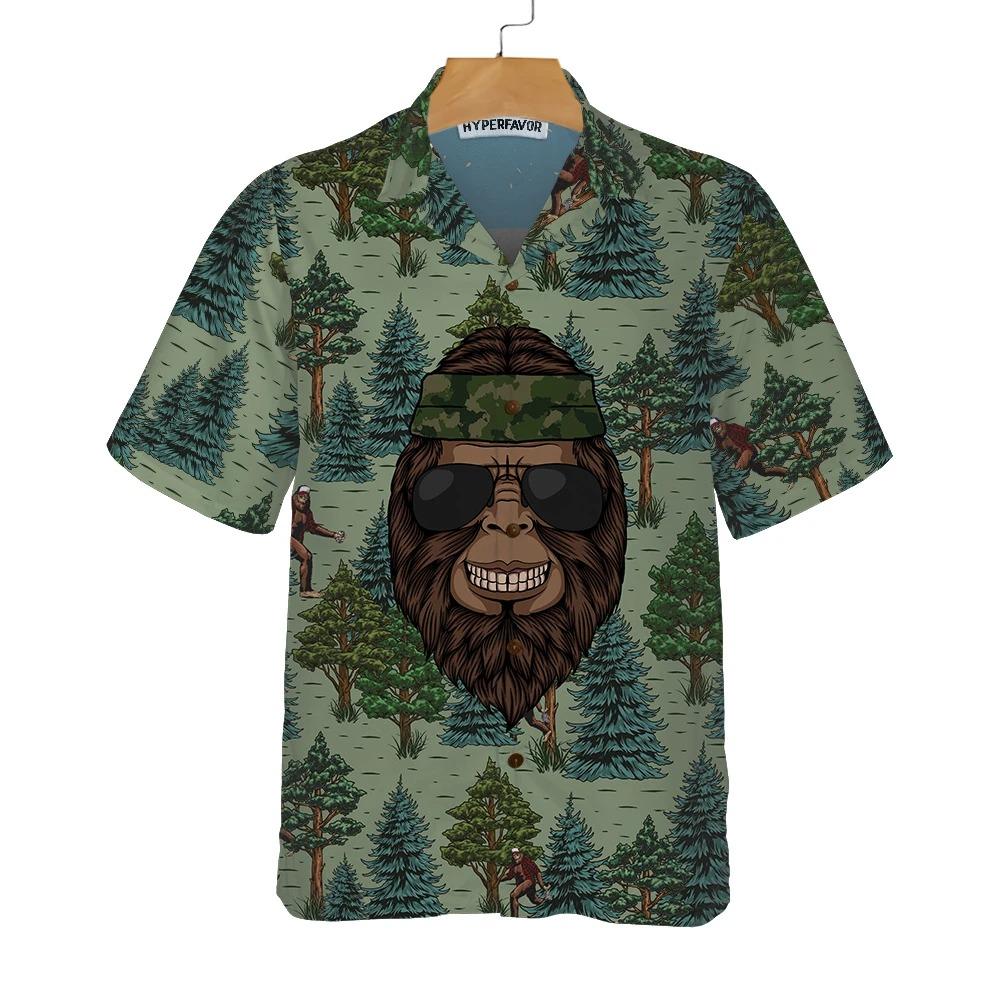 Bigfoot Saw Me But Nobody Believes Him Camping Hawaiian Shirt 1Bigfoot Saw Me But Nobody Believes Him Camping Hawaiian Shirt 1