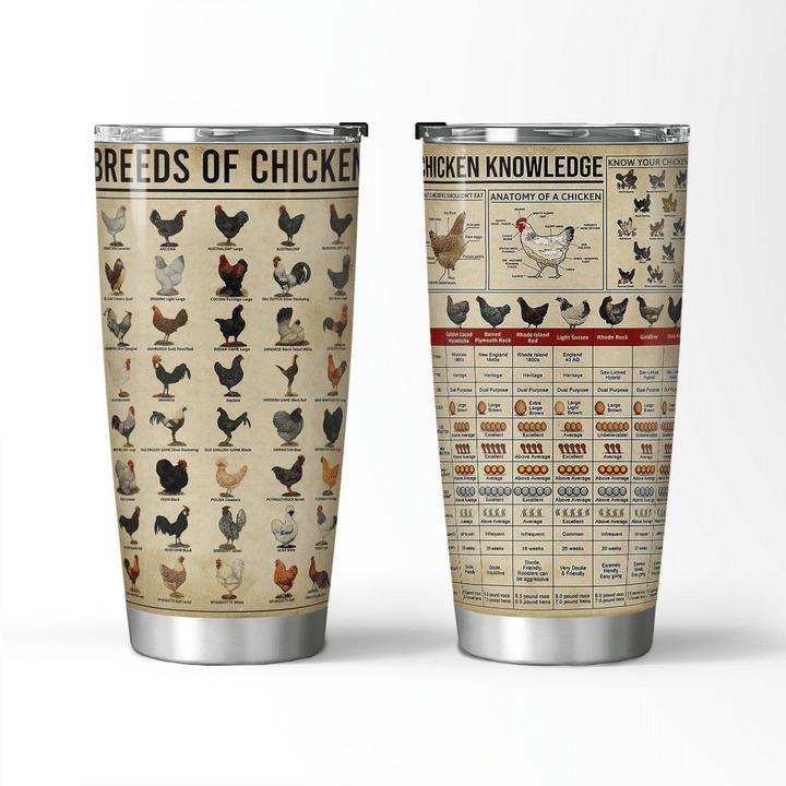 Breeds of chicken chicken knowledge tumbler 1