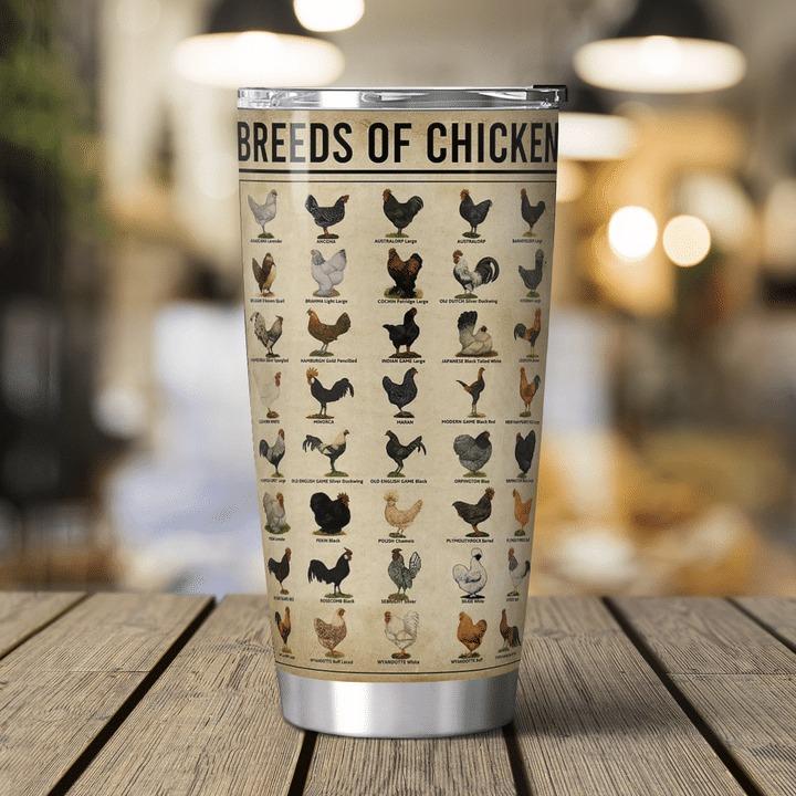 Breeds of chicken chicken knowledge tumbler 2