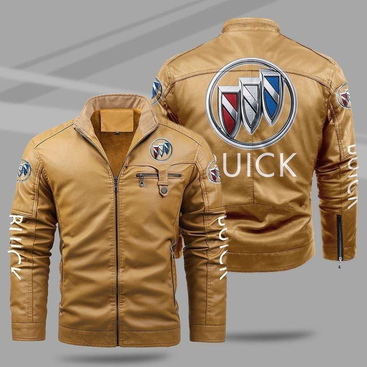 Buick Fleece Leather Jacket
