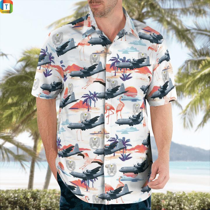 C-130 hercules polish air force hawaiian shirt 1