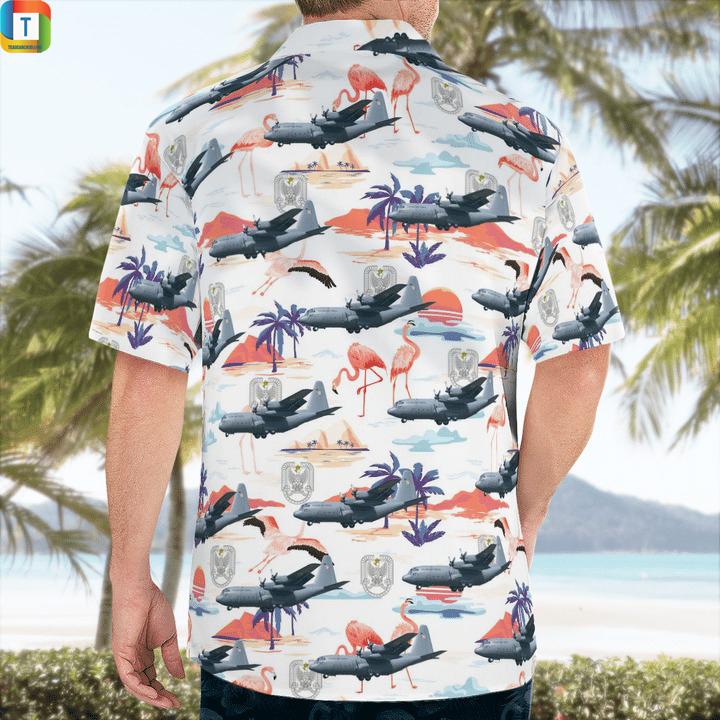 C-130 hercules polish air force hawaiian shirt 2
