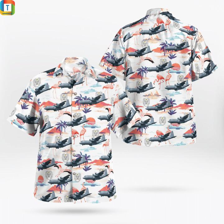 C-130 hercules polish air force hawaiian shirt