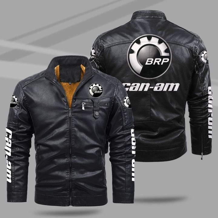 Can-Am Fleece Leather Jacket