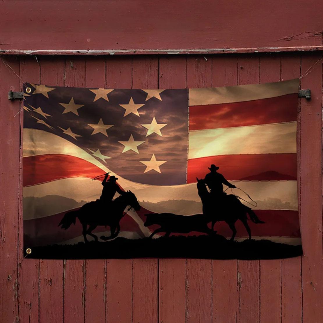 Cowboy American Grommet Flag