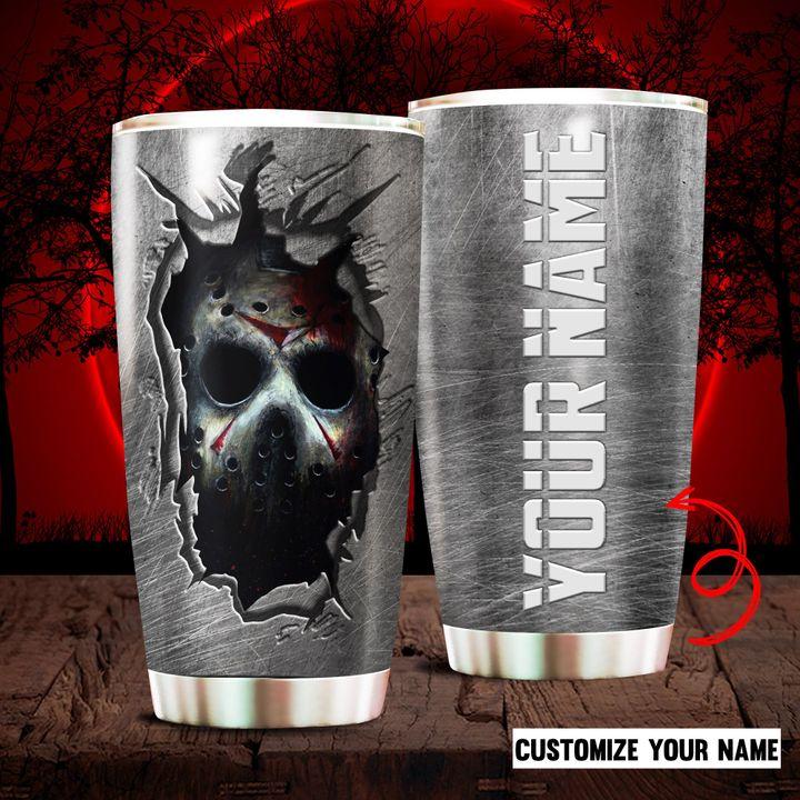 Custom Name Halloween Jason Vorrhees Tumbler