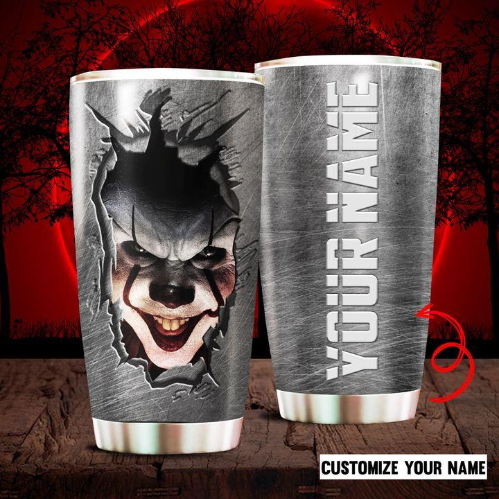 Custom Name Halloween Pennywise IT Tumbler