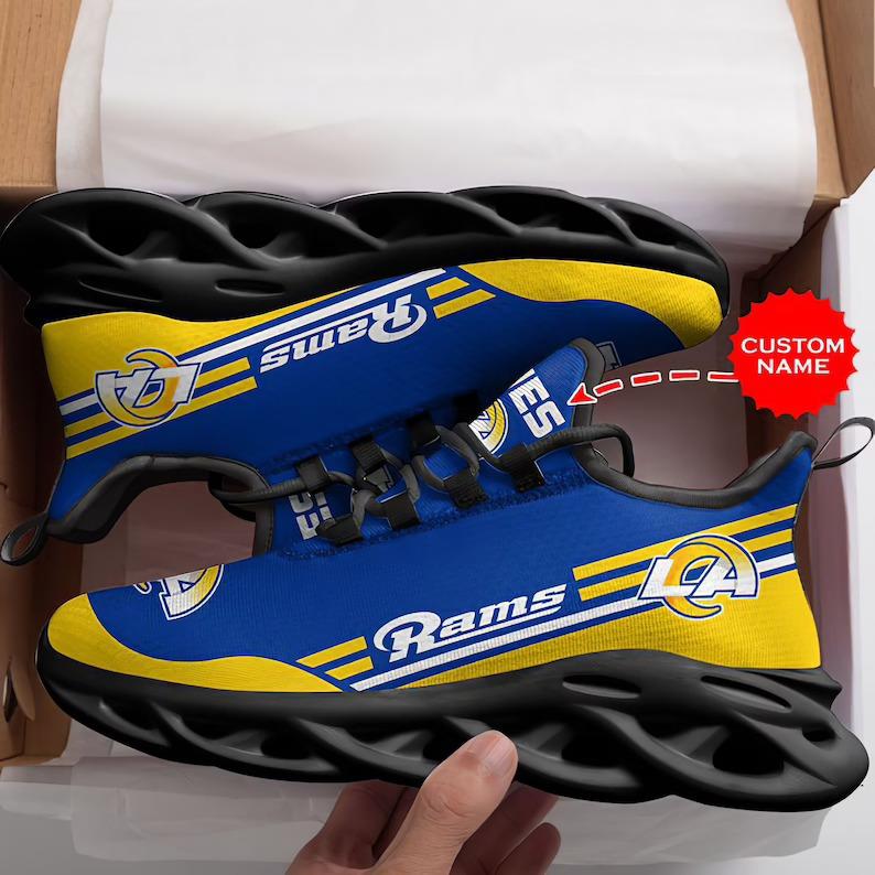 Custom Name Los Angeles Rams NFL Max Soul Sneaker