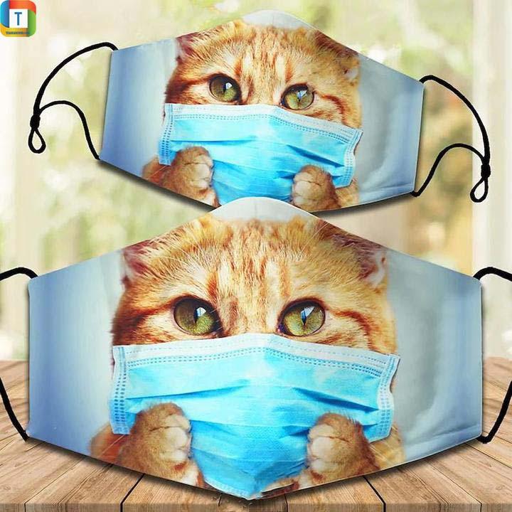 Cute Cat Kitten Cloth Face Cover, Face Mask
