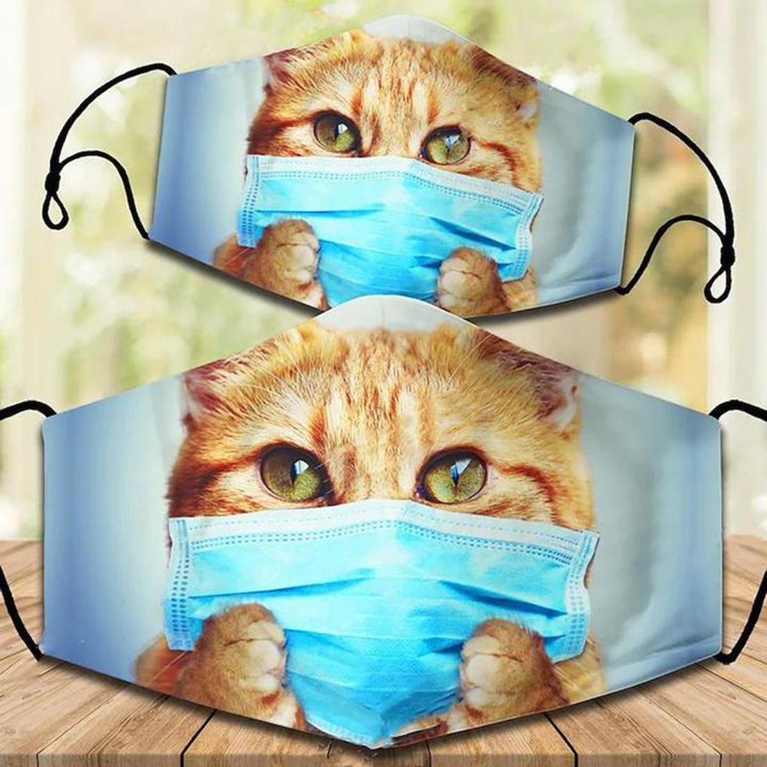 Cute cat kitten cloth face cover
