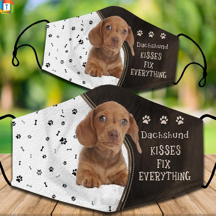 Dachshund kisses fix everything face maskDachshund kisses fix everything face mask