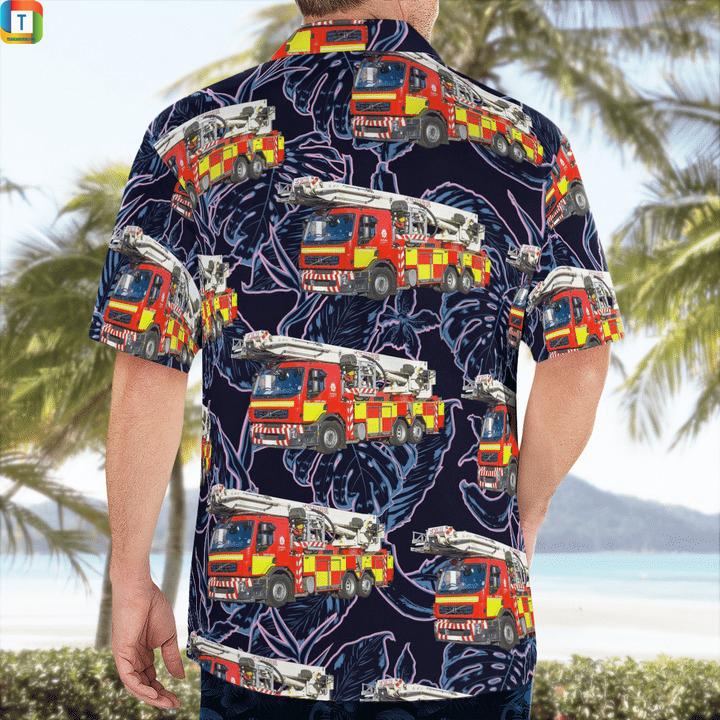 Derbyshire fire and rescue service aerial ladder platforms hawaiian shirt 2