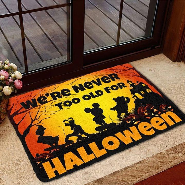 Disney We Are Never Too Old For Halloween Doormat