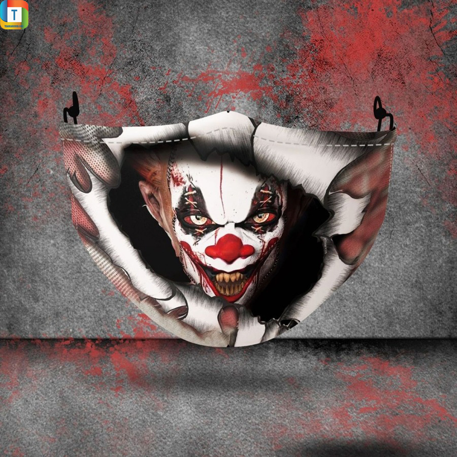 Pennywise inside halloween 3d face mask face cover