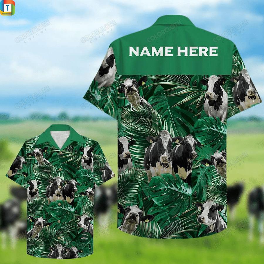 Farmer cow dairy cattle custom hawaiian shirt