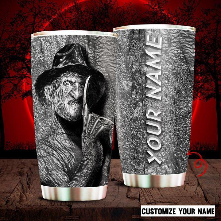 Freddy Krueger A Nightmare On Elm Street Custom Name Tumbler