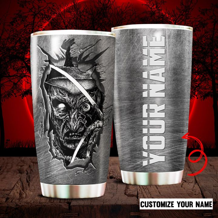 Freddy Krueger Custom Name Tumbler For Horror Fans