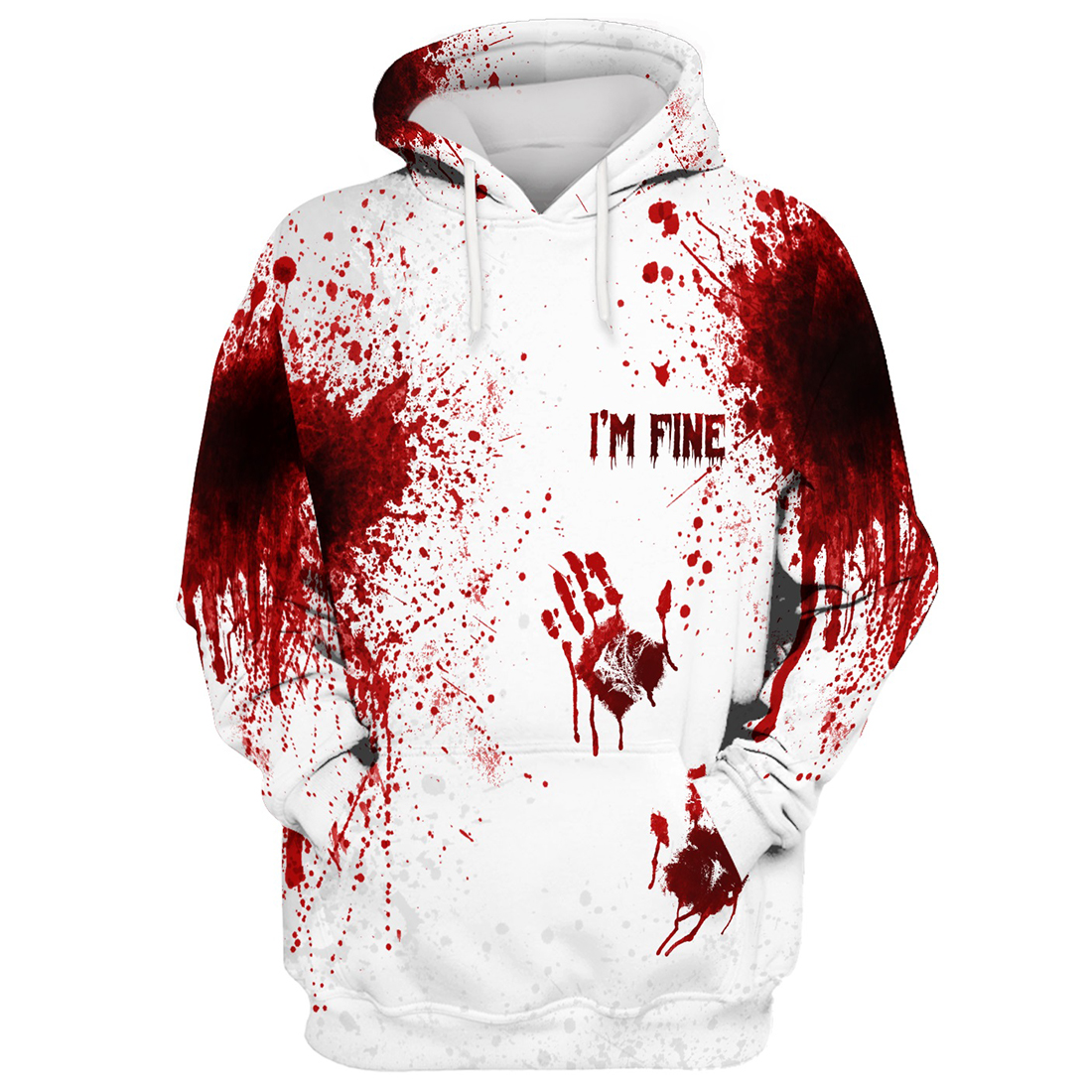 Halloween Blood I'm fine 3d hoodie and t-shirt