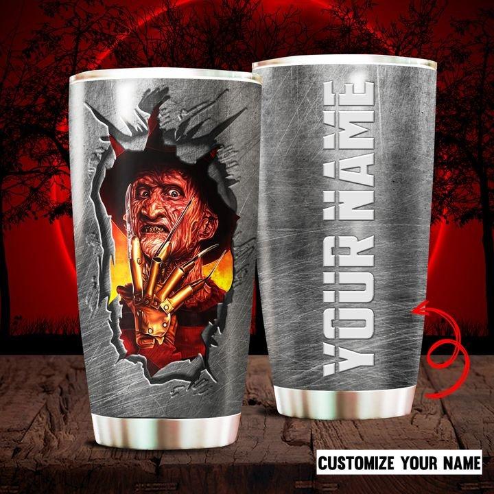 Halloween Freddy Krueger Custom Name Tumbler