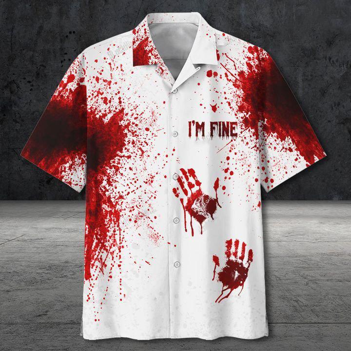 Halloween I'm Fine Hawaiian Shirt