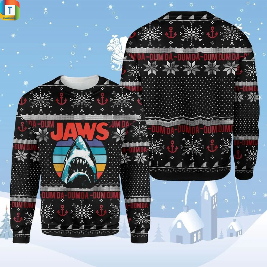 Horror Shark Jaw Ugly Sweater