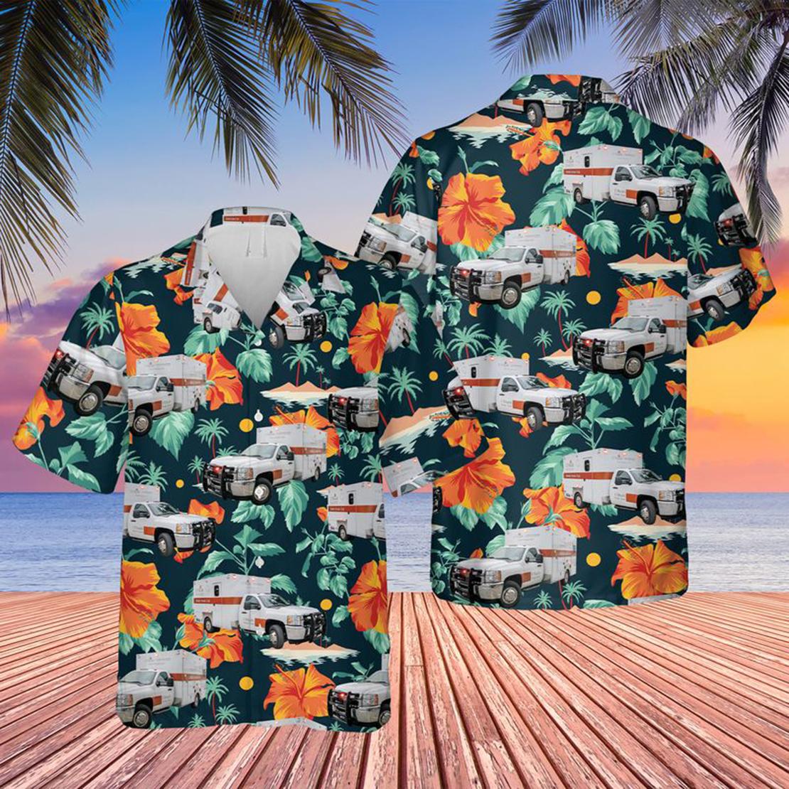 Houston, Texas UTHealth Mobile Stroke Unit Hawaiian Shirt