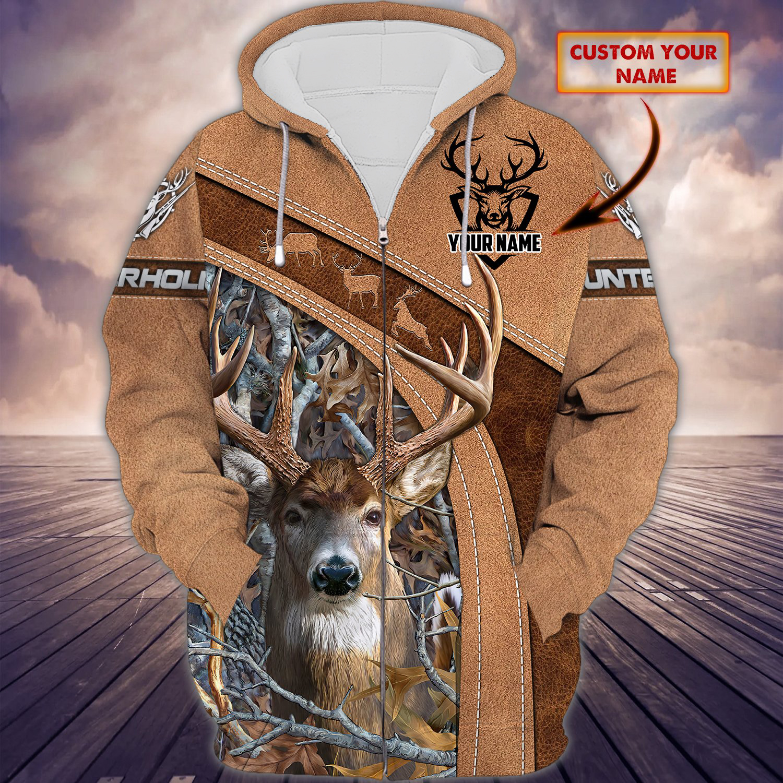 Hunting Deer Hunter Holic Personalized 3D Hoodie Shirt